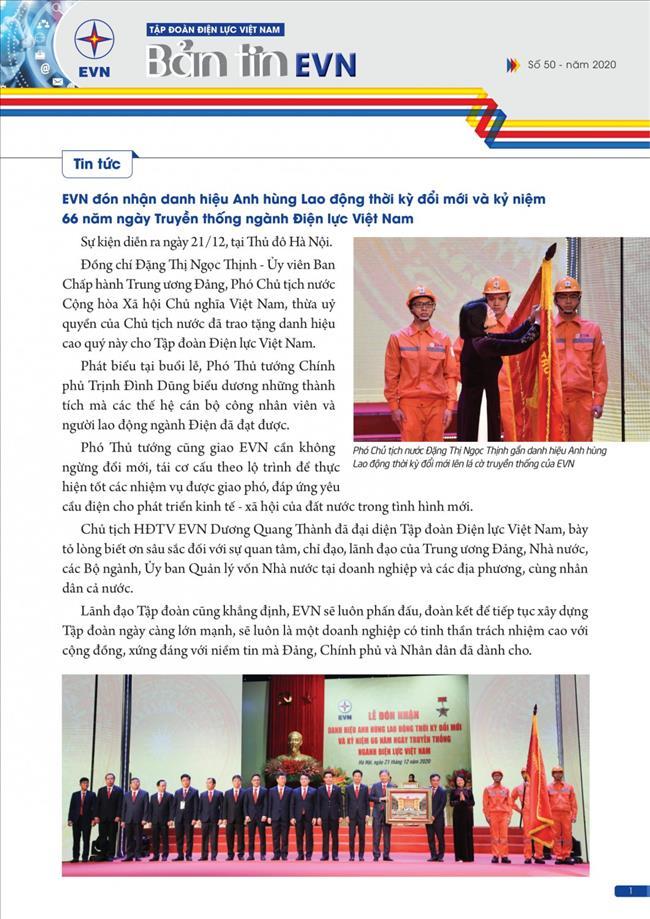 BẢN TIN EVN (SỐ 50 -Năm 2020)