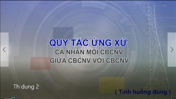 2. Quy tắc ứng xử cá nhân mỗi CBCNV giữa CBCNV với CBCNV