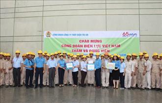 Công đoàn Điện lực Việt Nam thăm hỏi, tặng quà đoàn viên và người lao động tại Công ty Thủy điện Trị An