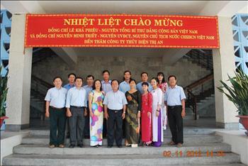 Lãnh đạo Nhà nước thăm Nhà máy Thủy điện Trị An